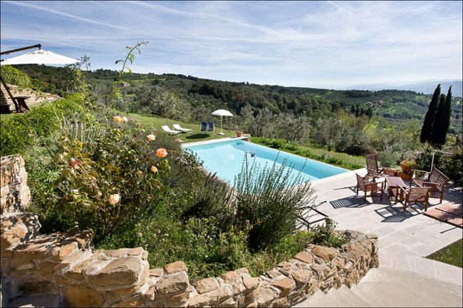 Schwimmbad des Landhaus in Vinci